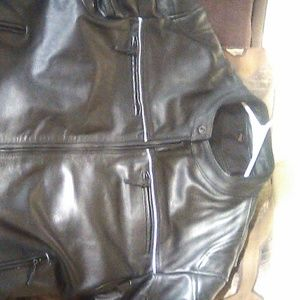 Brand-new leather motorcycle jacket